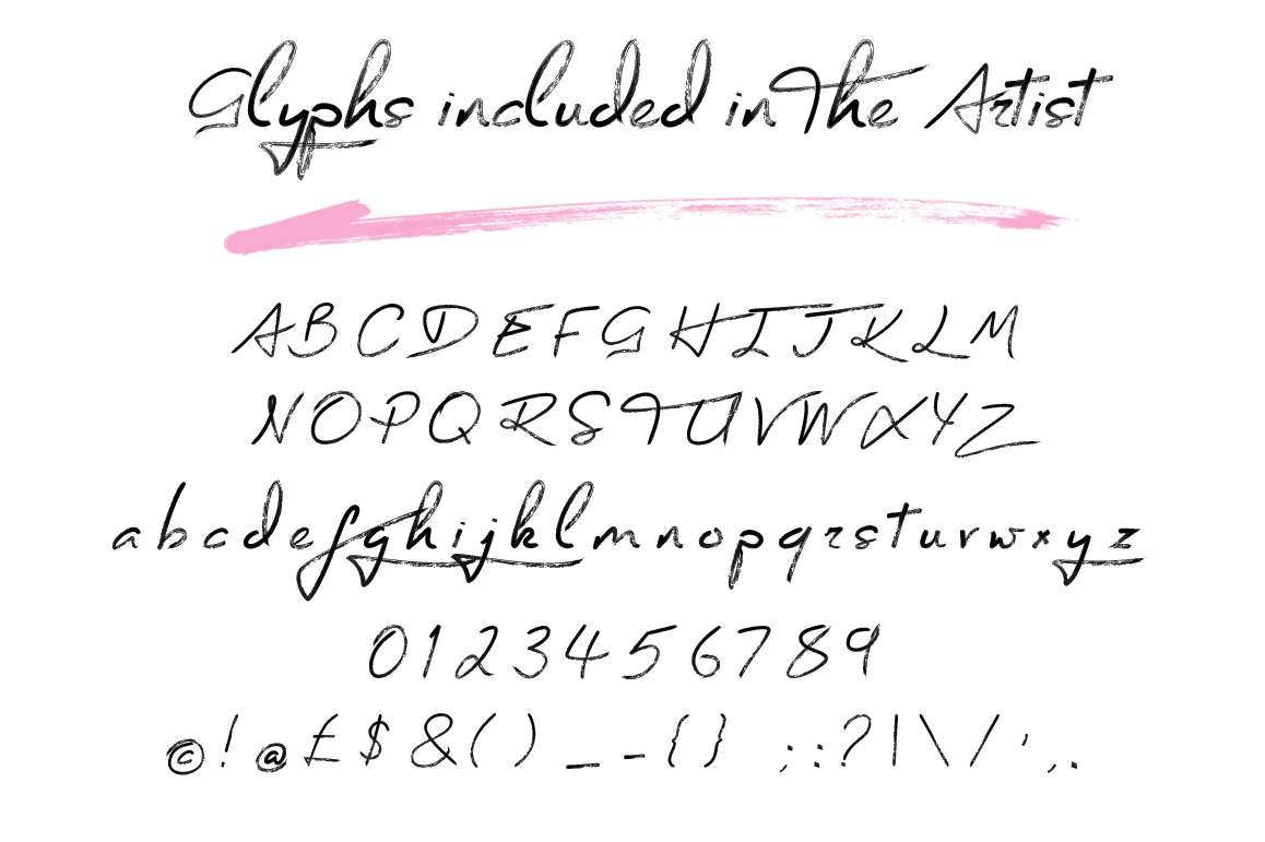 The Artist Brush Font example image 3