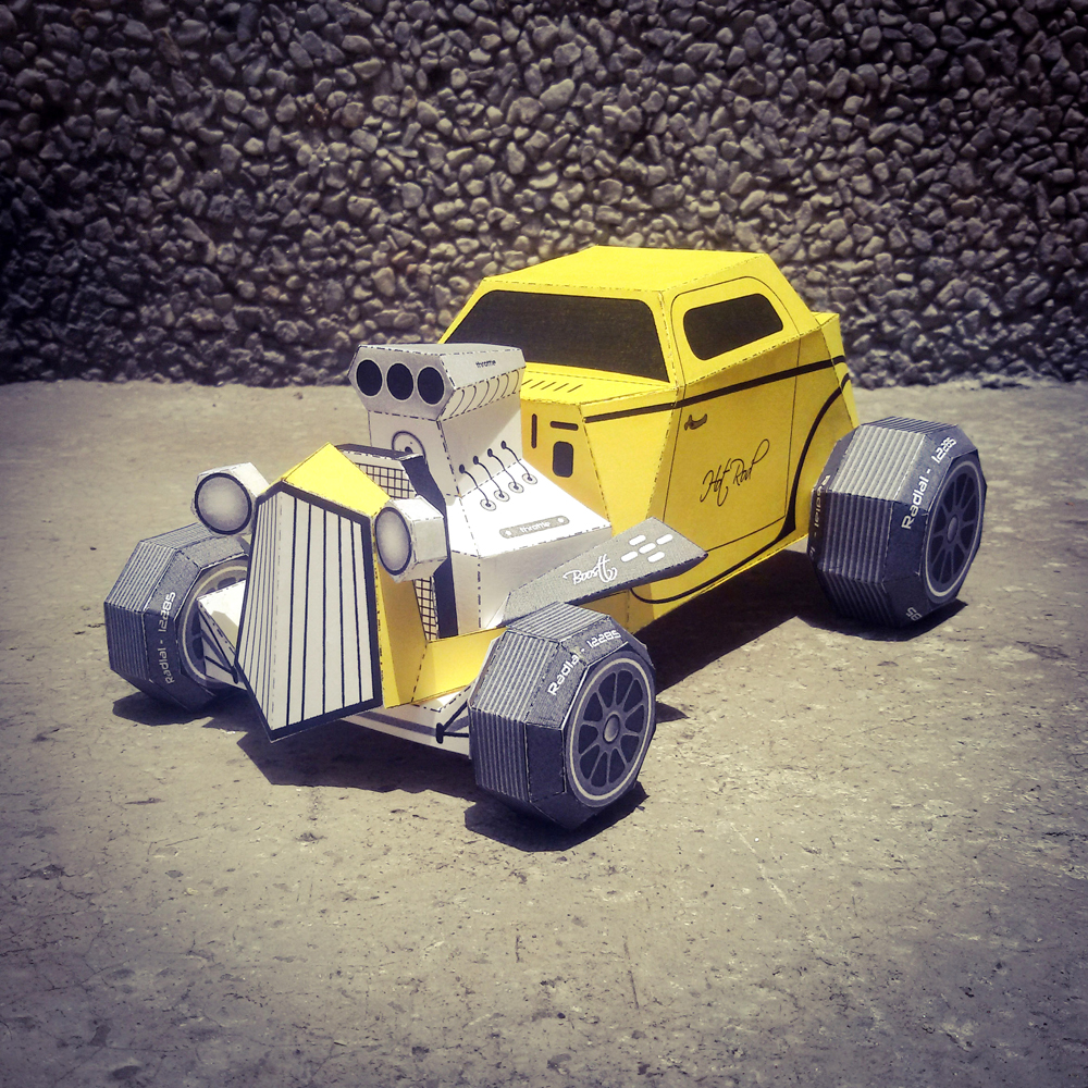 DIY Paper Car - 3d papercraft example image 2