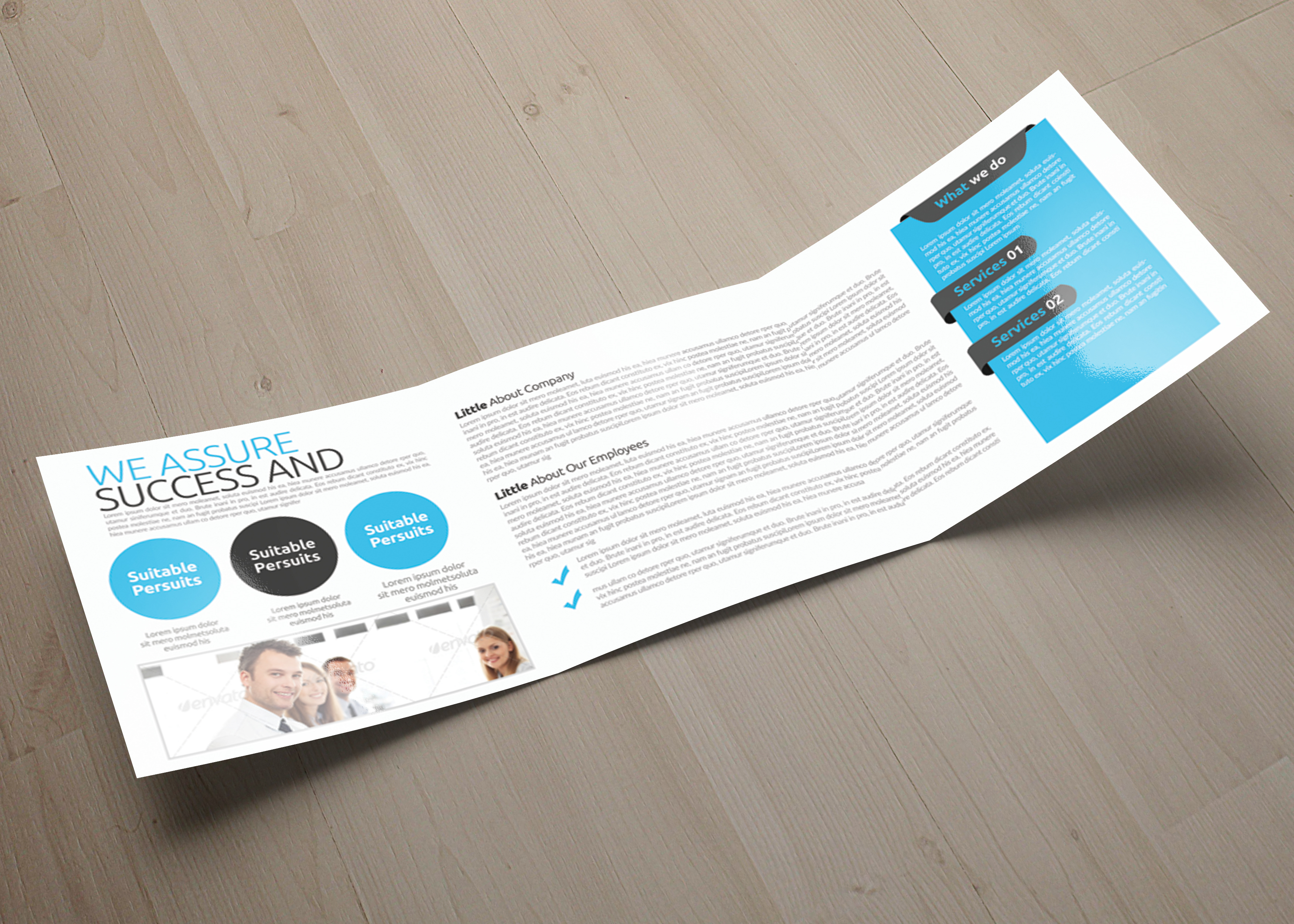 Multi Use Business Squre Trifold Brochure example image 3