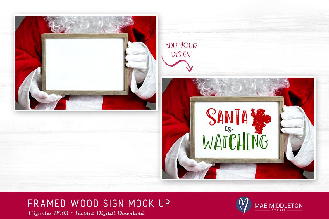 Christmas Mock up - Framed wood sign example image 2