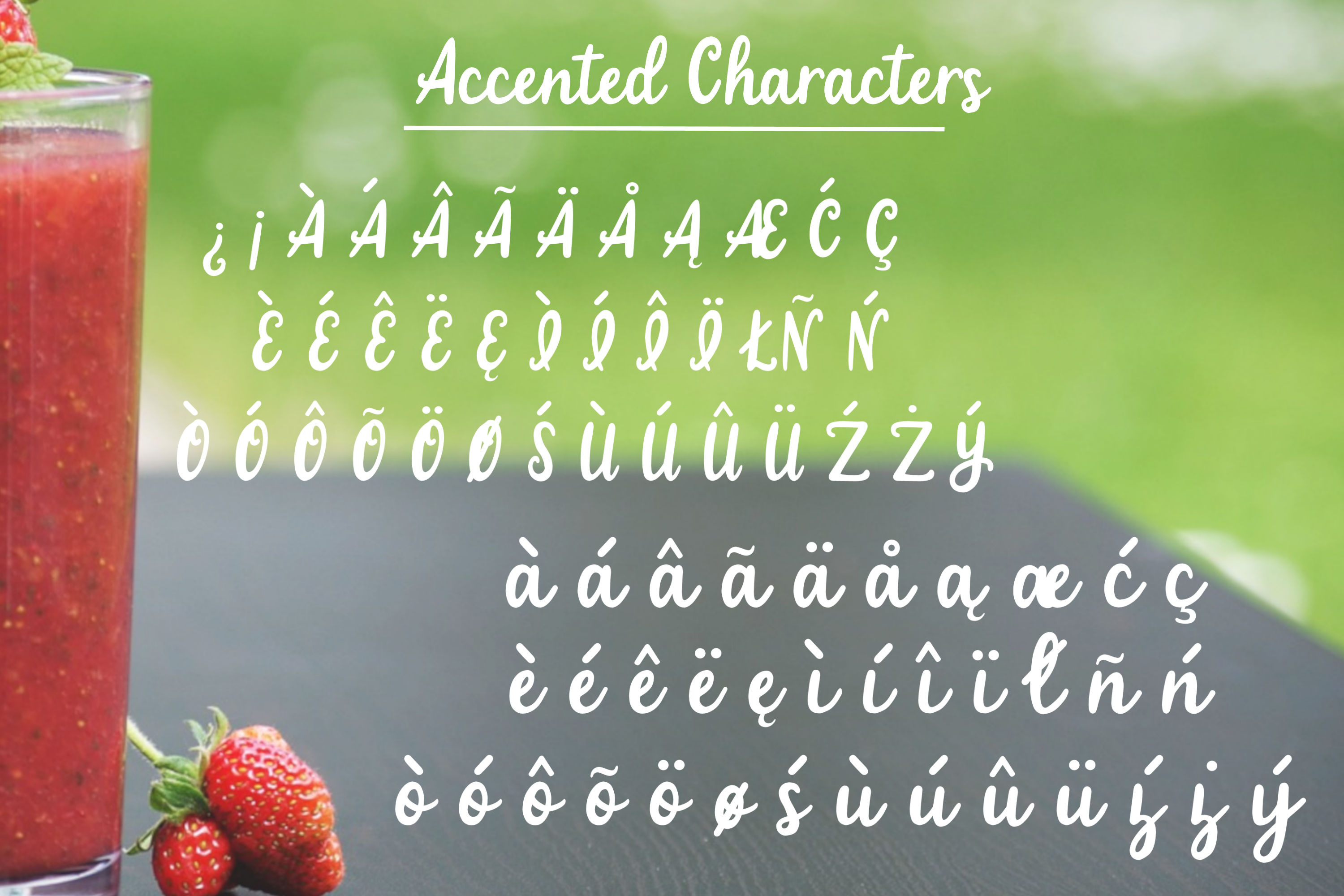 Strawberry Smoothie- A handlettered script font example image 3