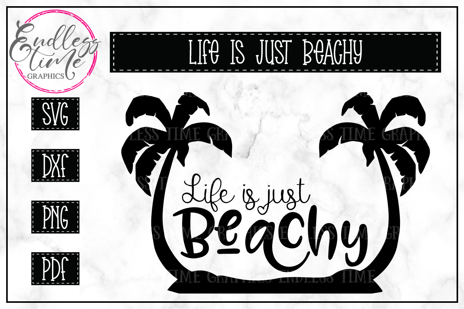 Life is Just Beachy SVG - Summer SVG example image 2