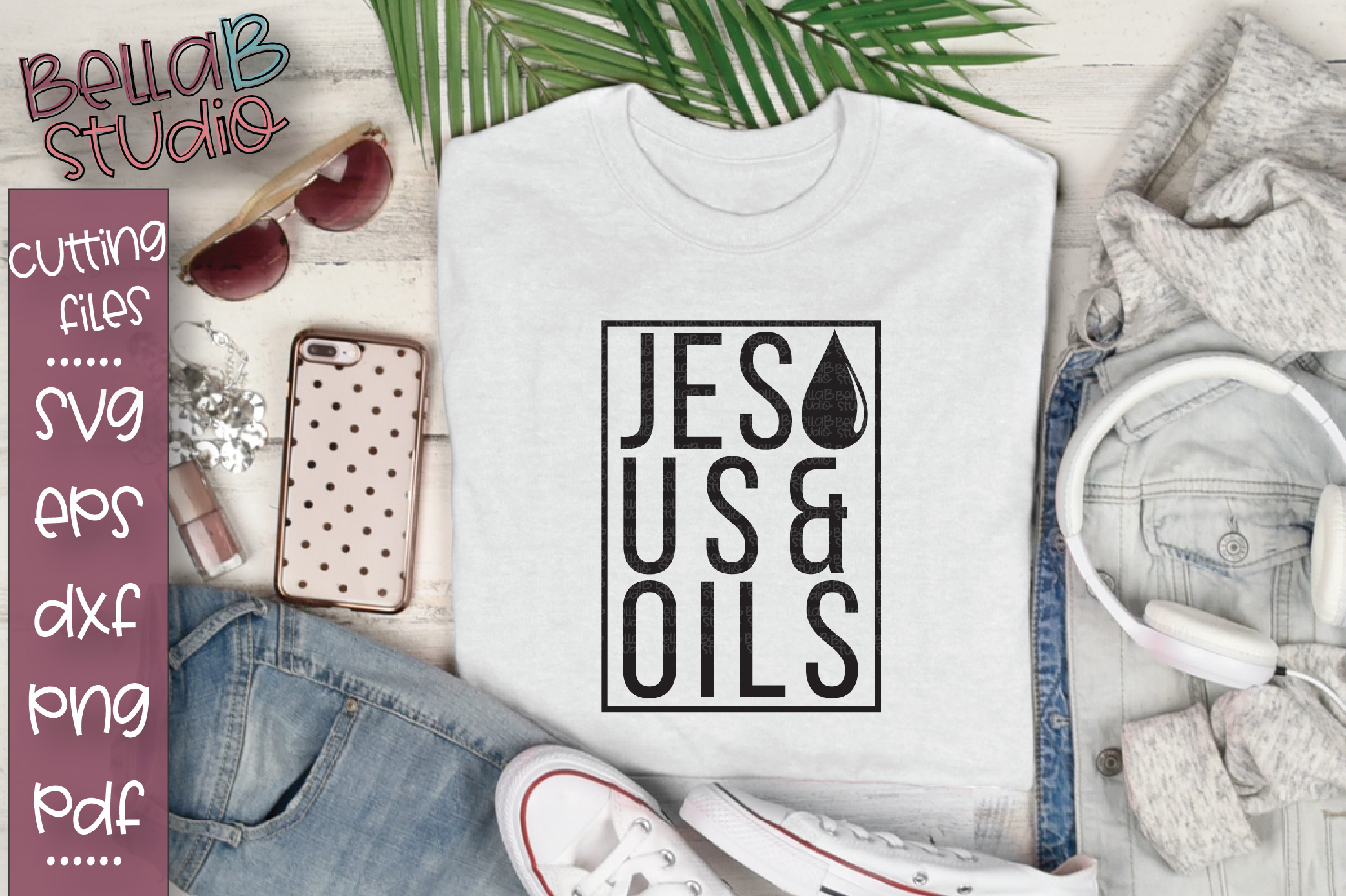 Essential Oils SVG, Jesus And Oils SVG example image 1