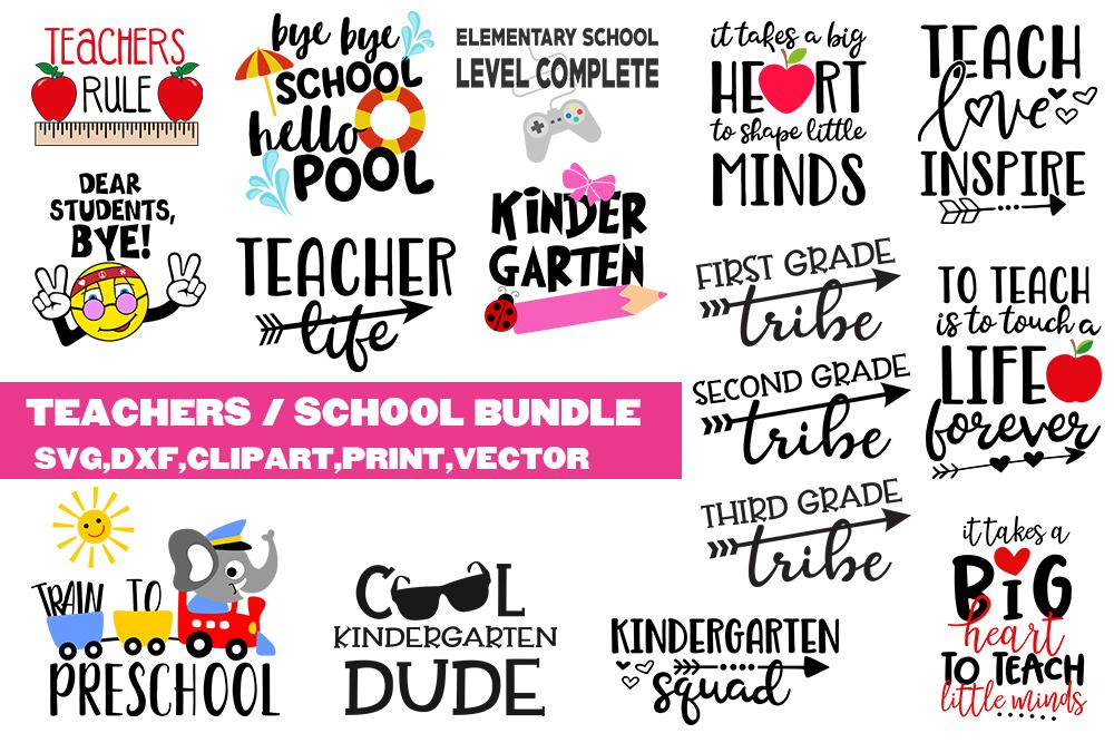 School Teachers SVG bundle - clipart, vector, printable example image 1