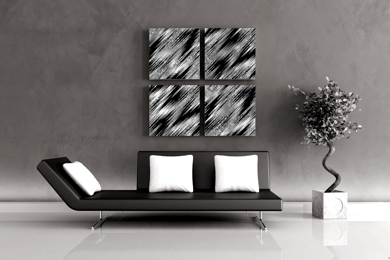 30 Seamless Black Silver Foil Basic Home Decor Print Pattern example image 3