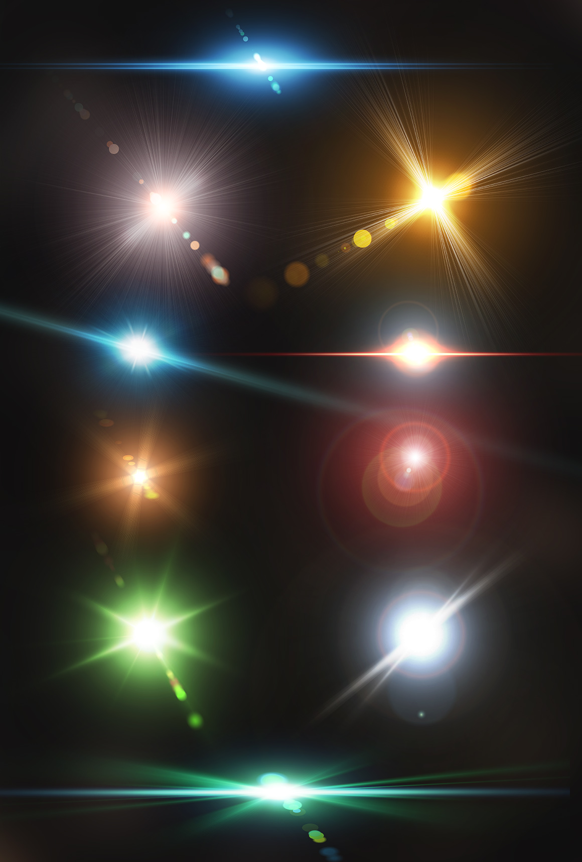 10 Optical Lens Flares Pack 2 example image 2