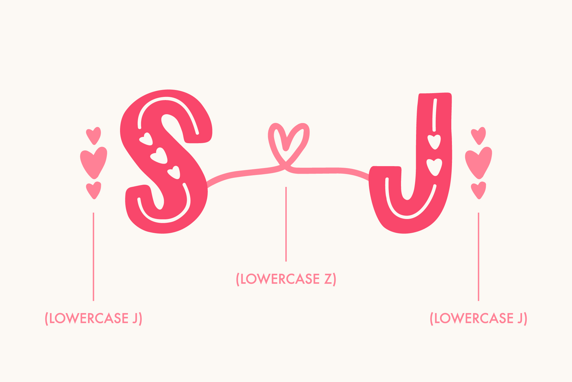Love Struck, Thick Valentine's Heart Font example image 3