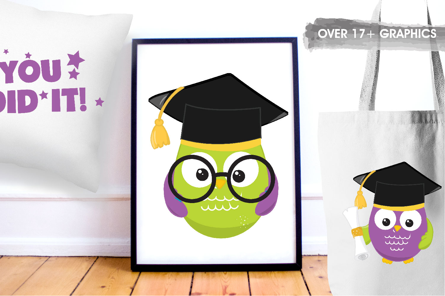 Graduation Owls Cute Graphics example image 5
