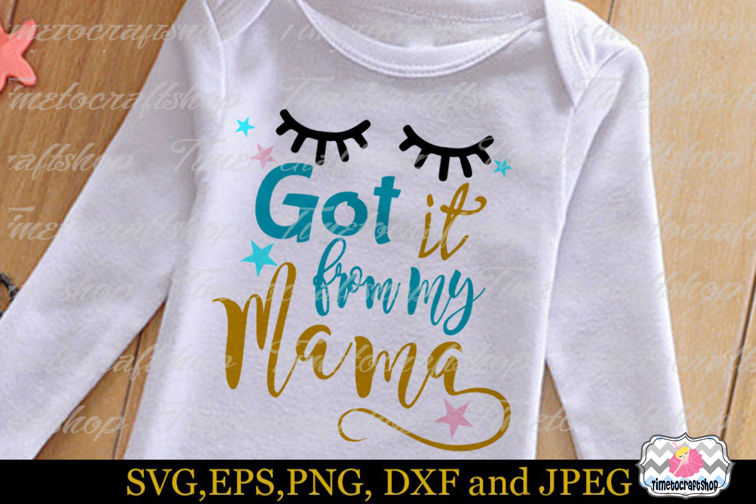 SVG, Dxf, Png & Eps Got it from my Mama example image 1