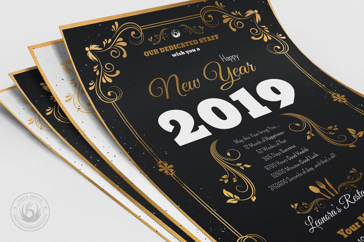 New Year Menu Template V1 example image 7