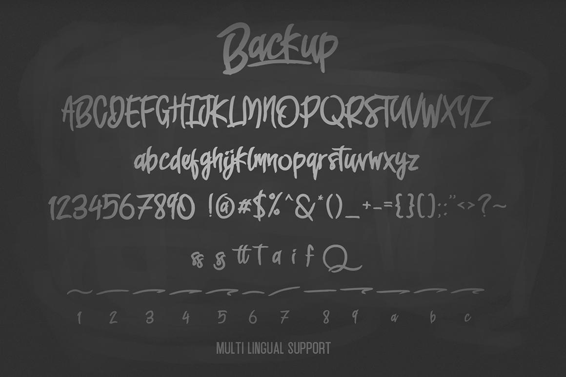 Backup Typeface example image 2