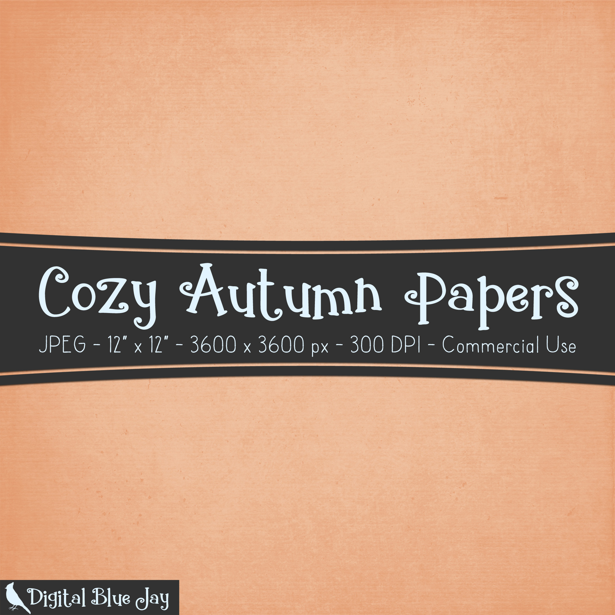 Digital Paper Textured Backgrounds - Cozy Autumn example image 2