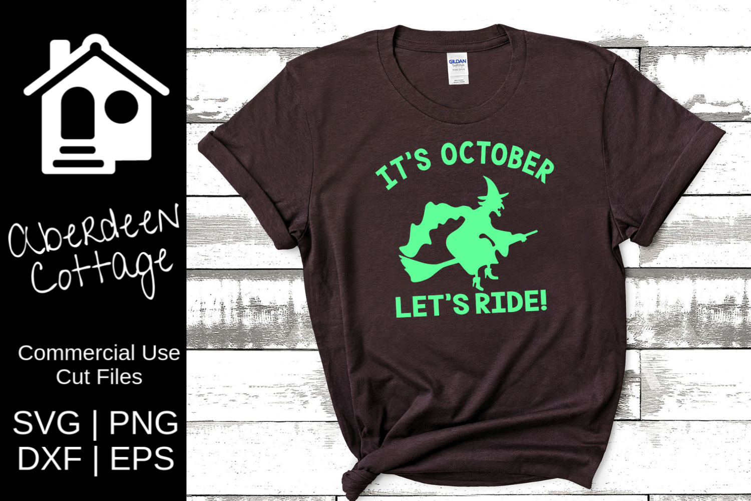 It's October Let's Ride SVG example image 1