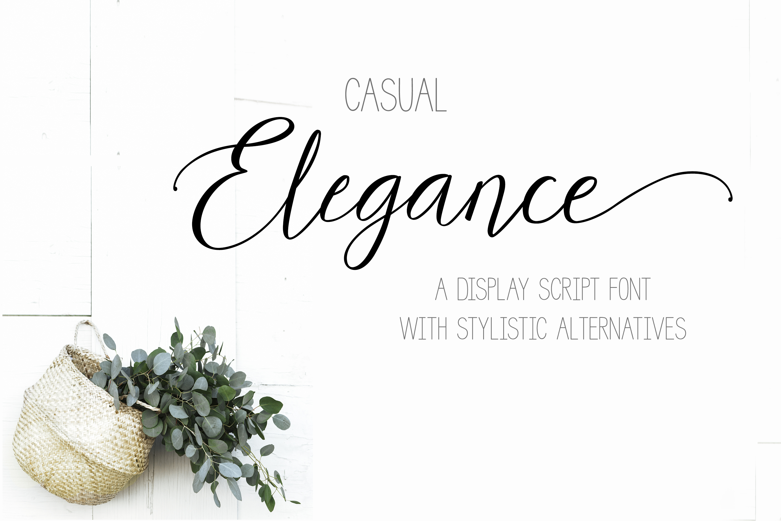 Casual Elegance a display script typeface font stylistic alt example image 1