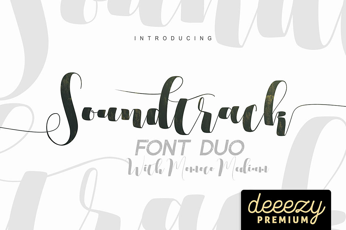 Soundtrack Font Duo example image 1