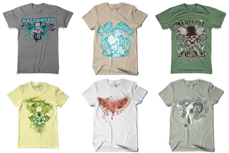 100 T-shirt Designs Vol 1 example image 8