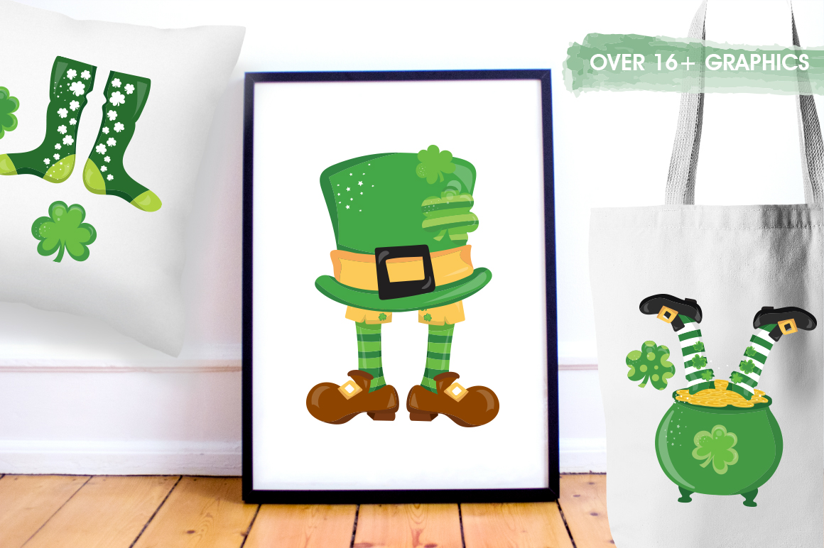 St-Patrick Good Luck graphic and illustrations example image 3