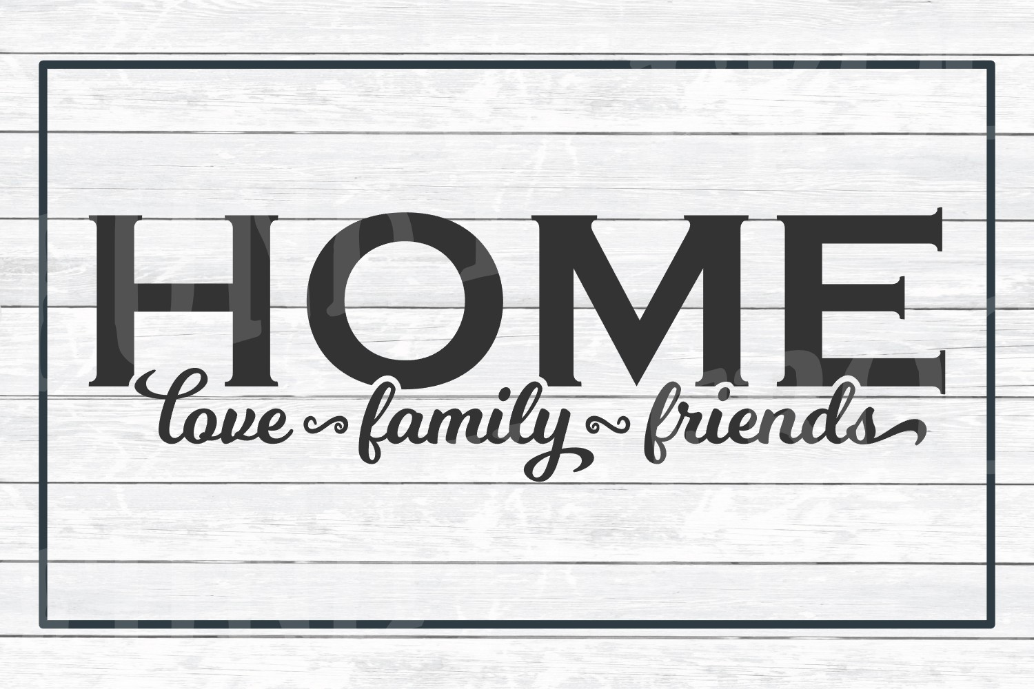 Home Love, Family, Friends - SVG Cut File for Crafters example image 3