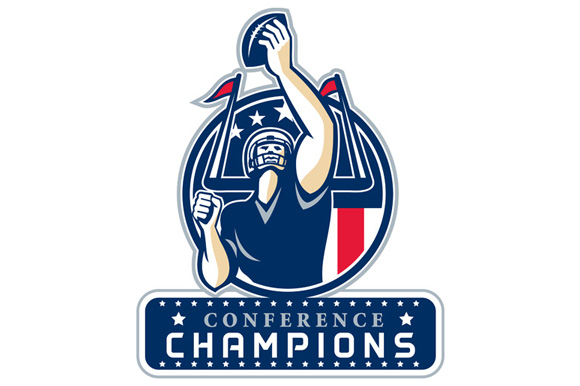 Football Conference Champions New England Retro example image 1