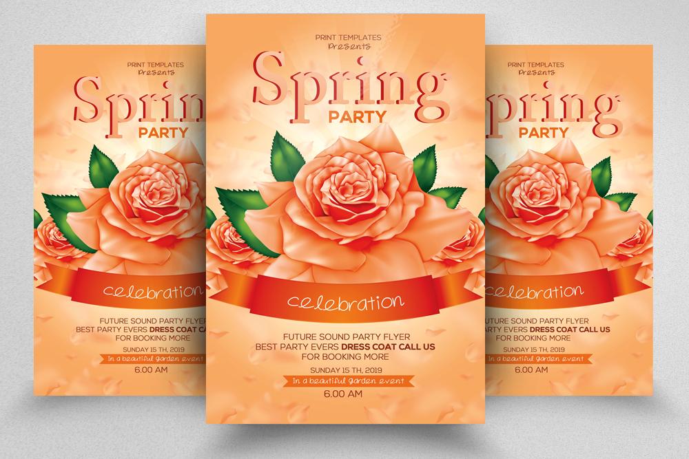 4 Spring Festival Flyers Bundle example image 2