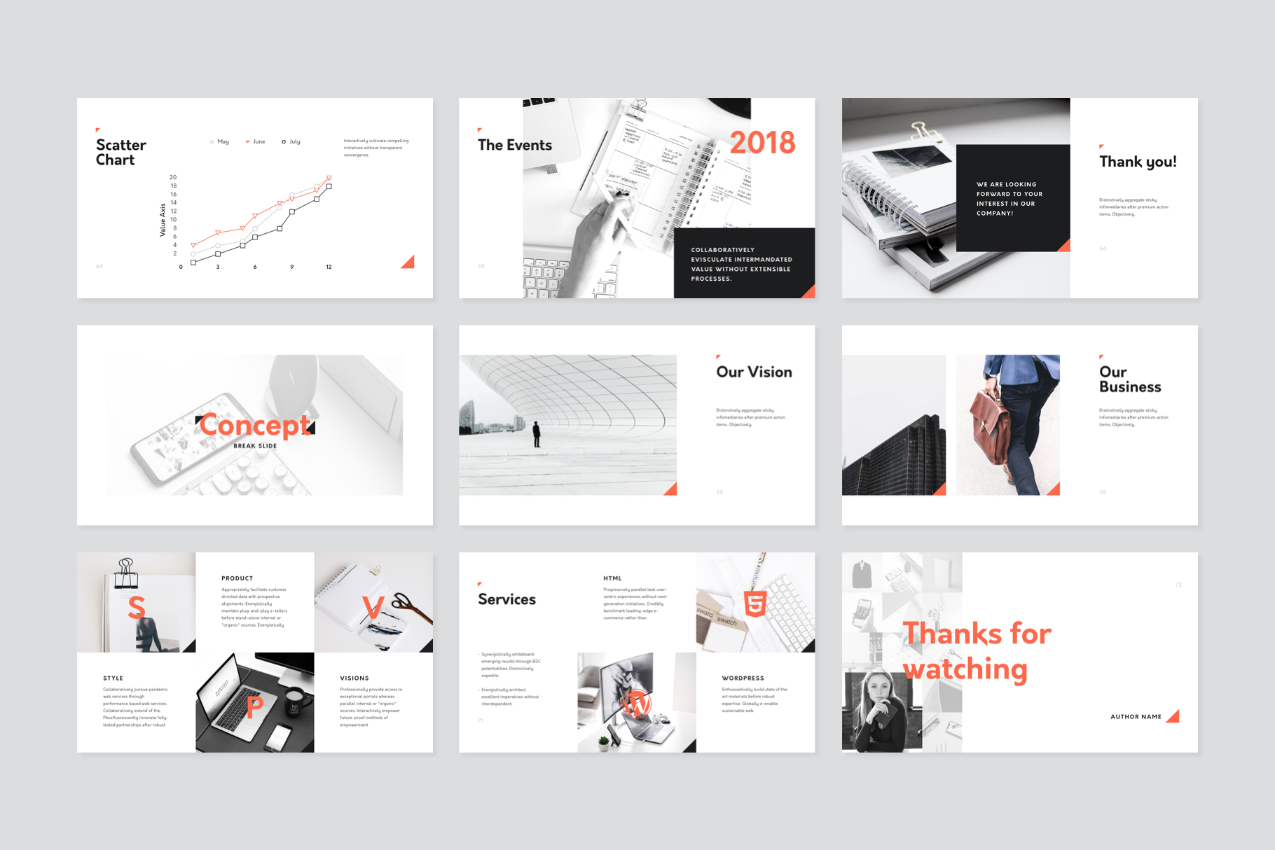 Corp Keynote Presentation Template example image 8