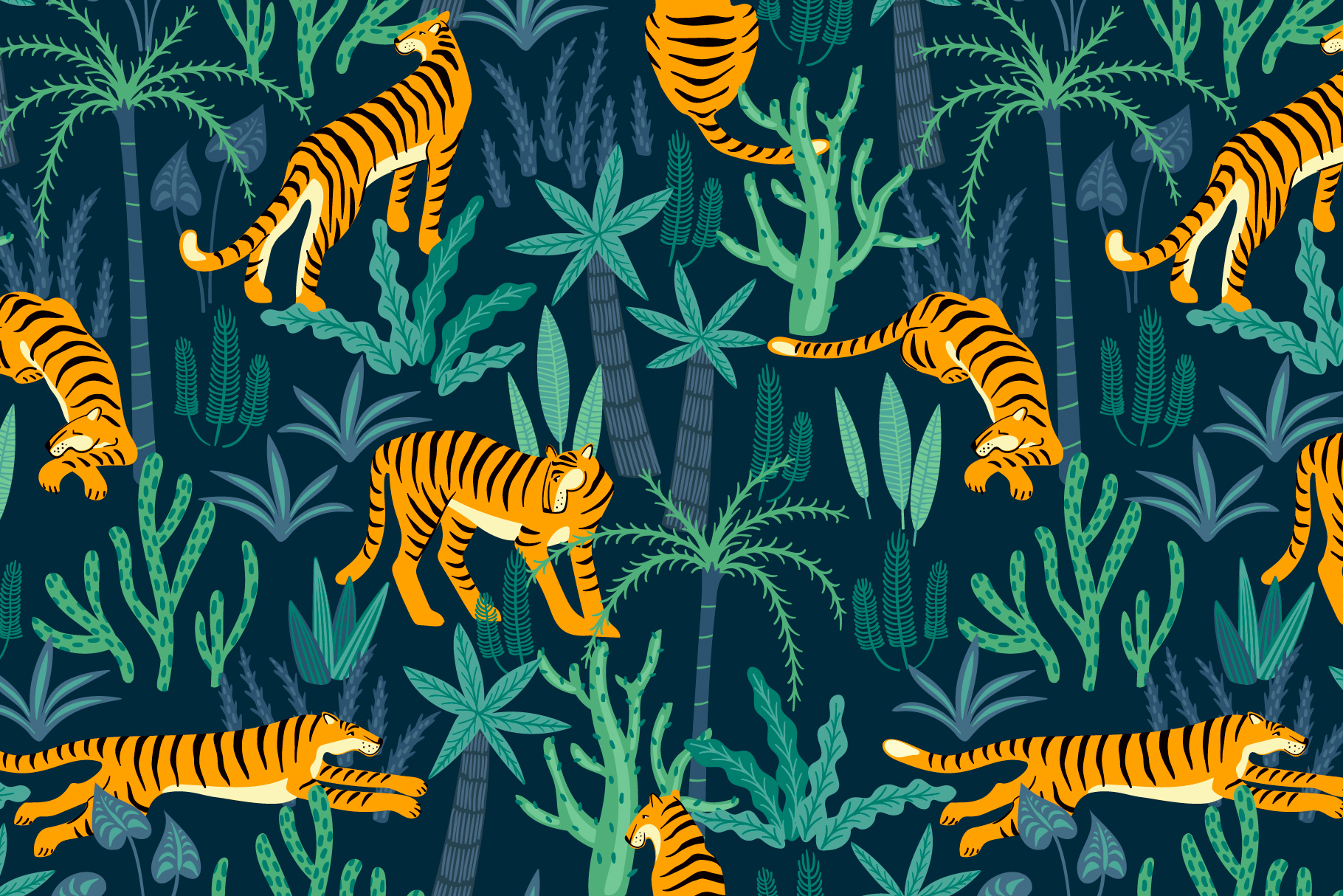 Tiger collection. Patterns & clipart example image 10