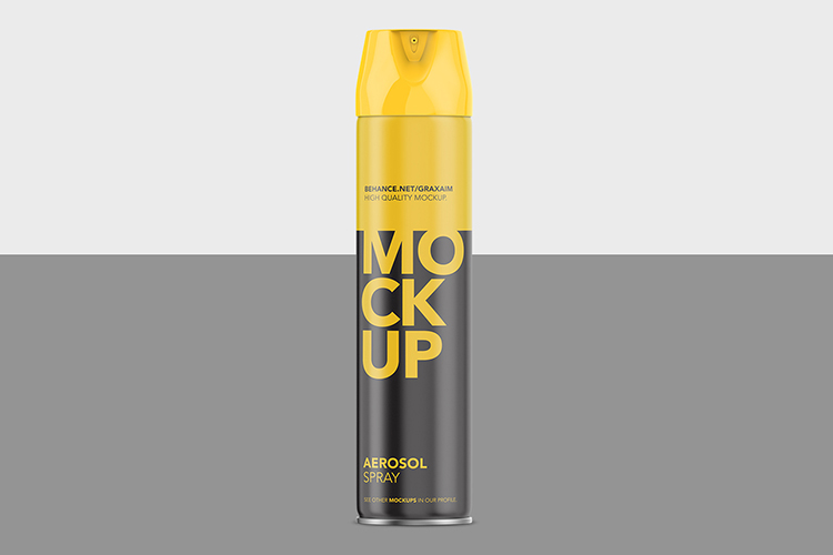 Aerosol Spray Mockup - Matte Front Mockup Tall example image 2