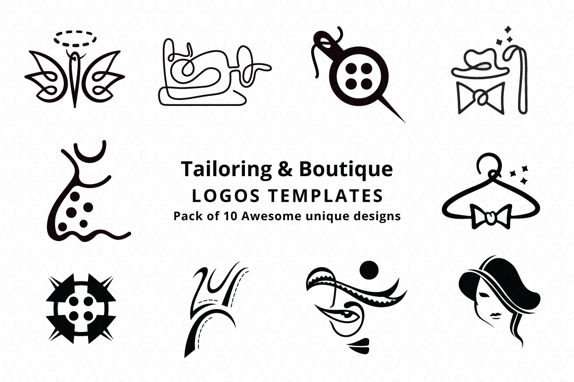 Tailoring & Boutique Logo Templates Pack of 10 example image 6
