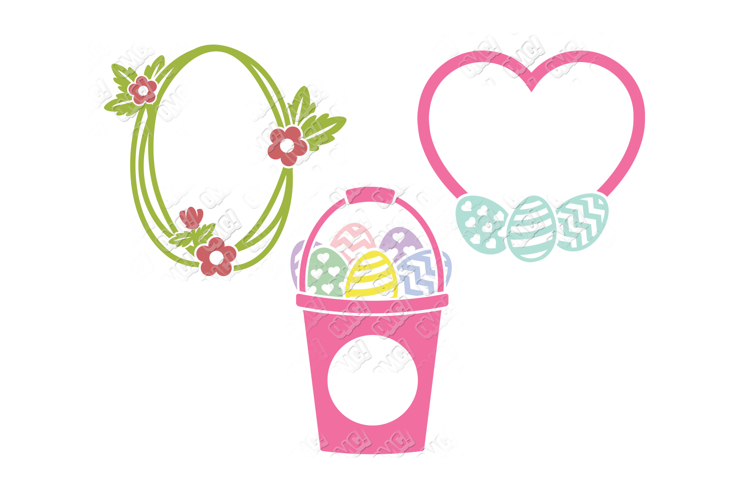 Easter Egg SVG Monogram Quotes in SVG, DXF, PNG, EPS, JPEG example image 4