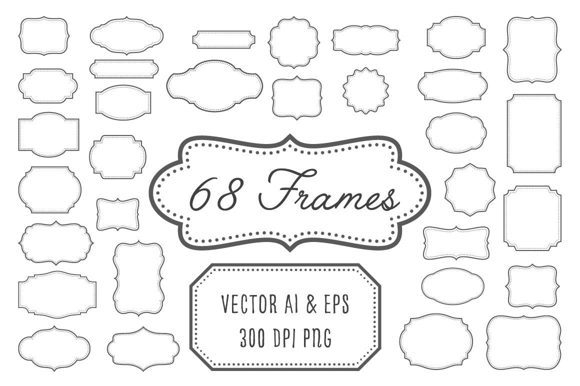 Vintage Frames, Labels, Badges example image 1