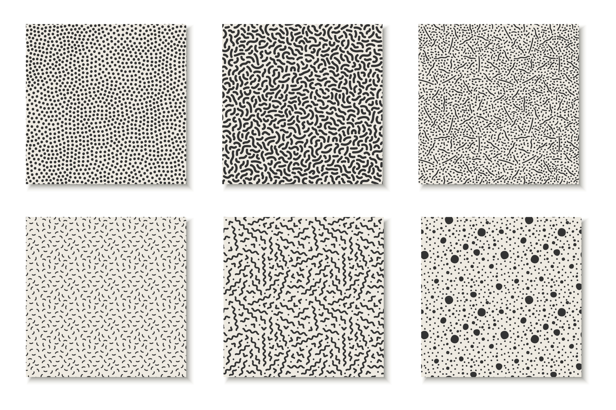 Seamless memphis vector patterns - swatches library. example image 9