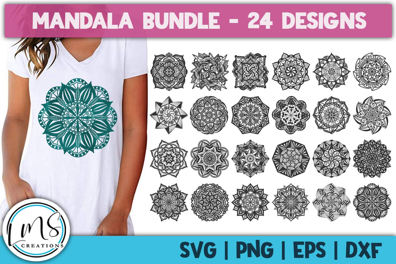 Mandala Bundle SVG, PNG, EPS, DXF example image 2