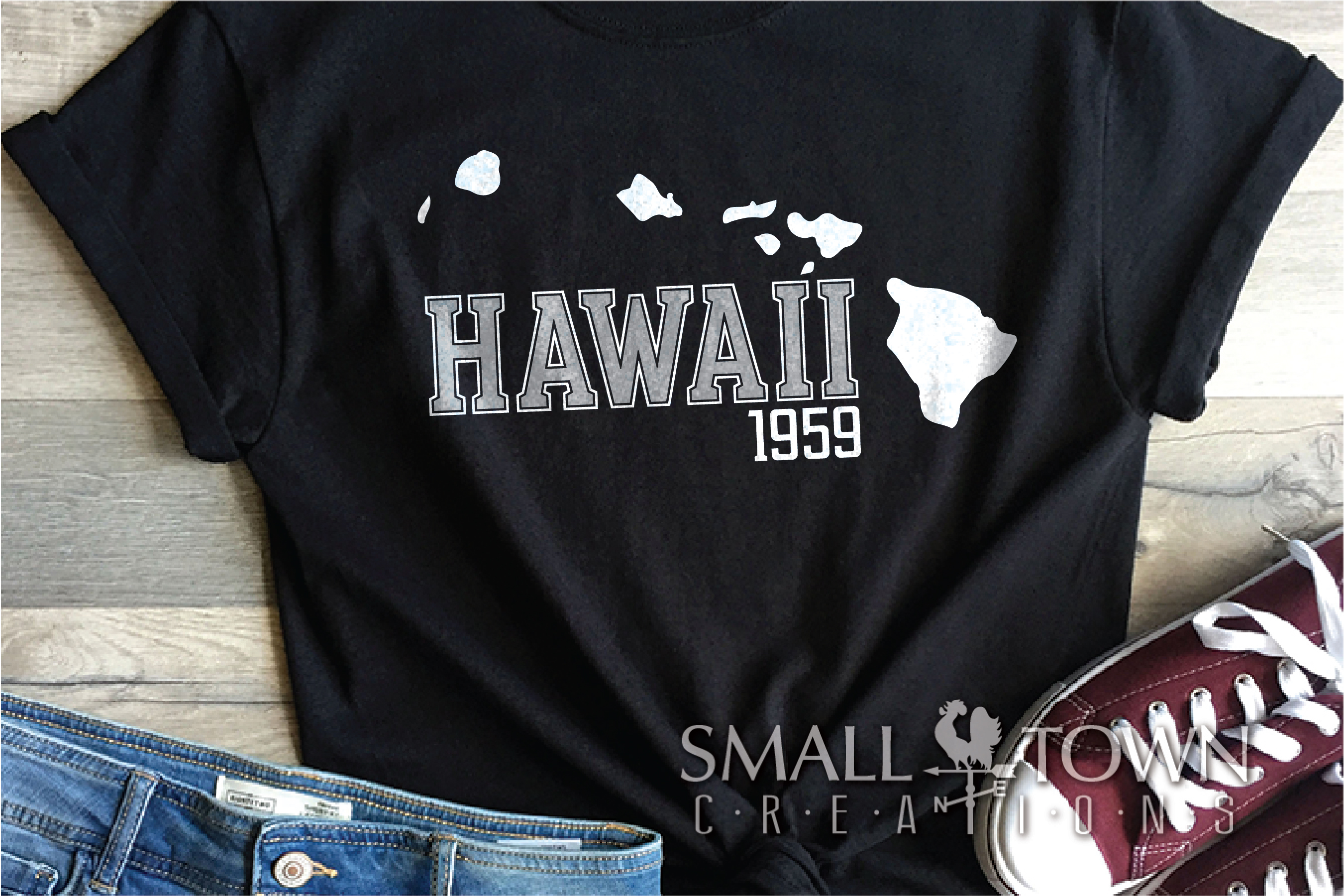 Hawaii, Aloha State - slogan, Logo, PRINT, CUT & DESIGN example image 4