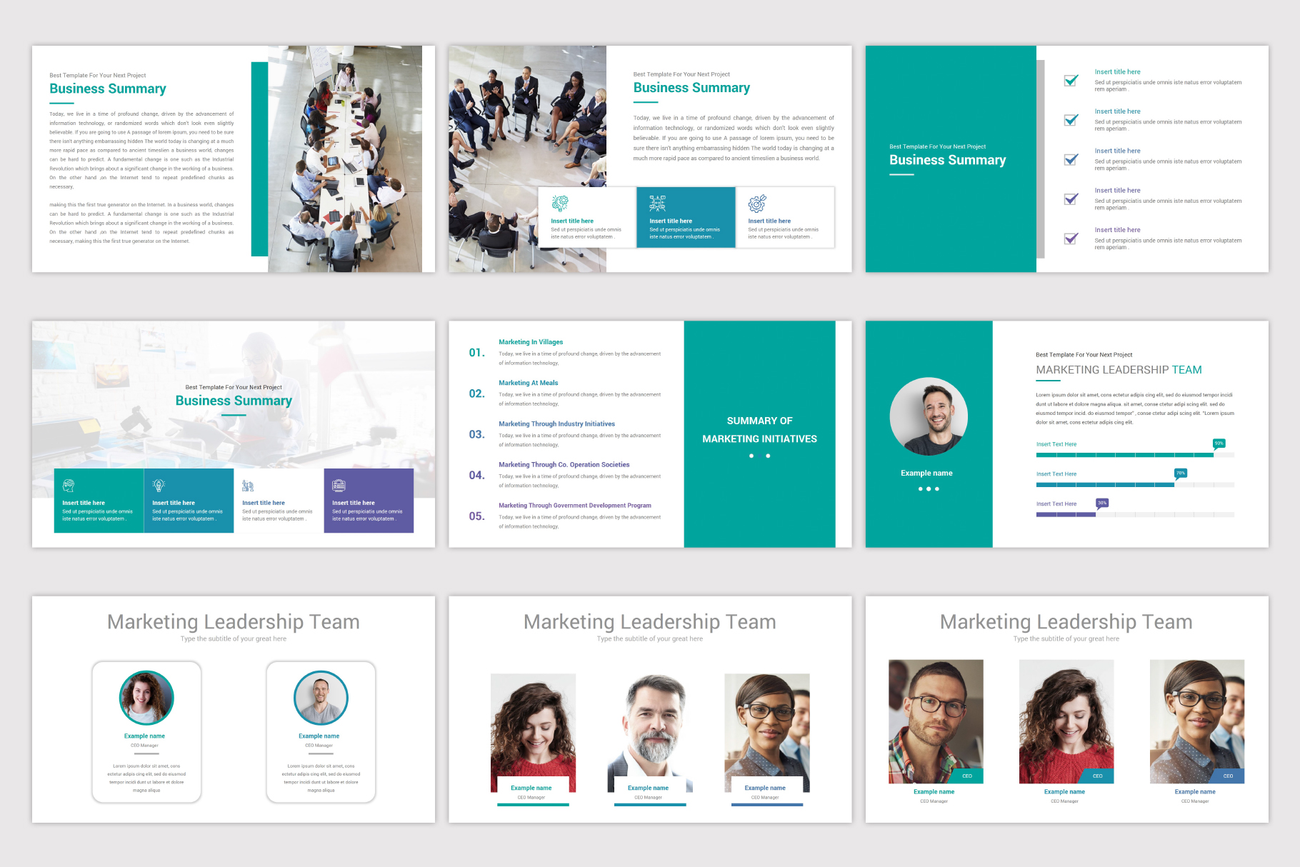 Business Plan Keynote Template example image 5