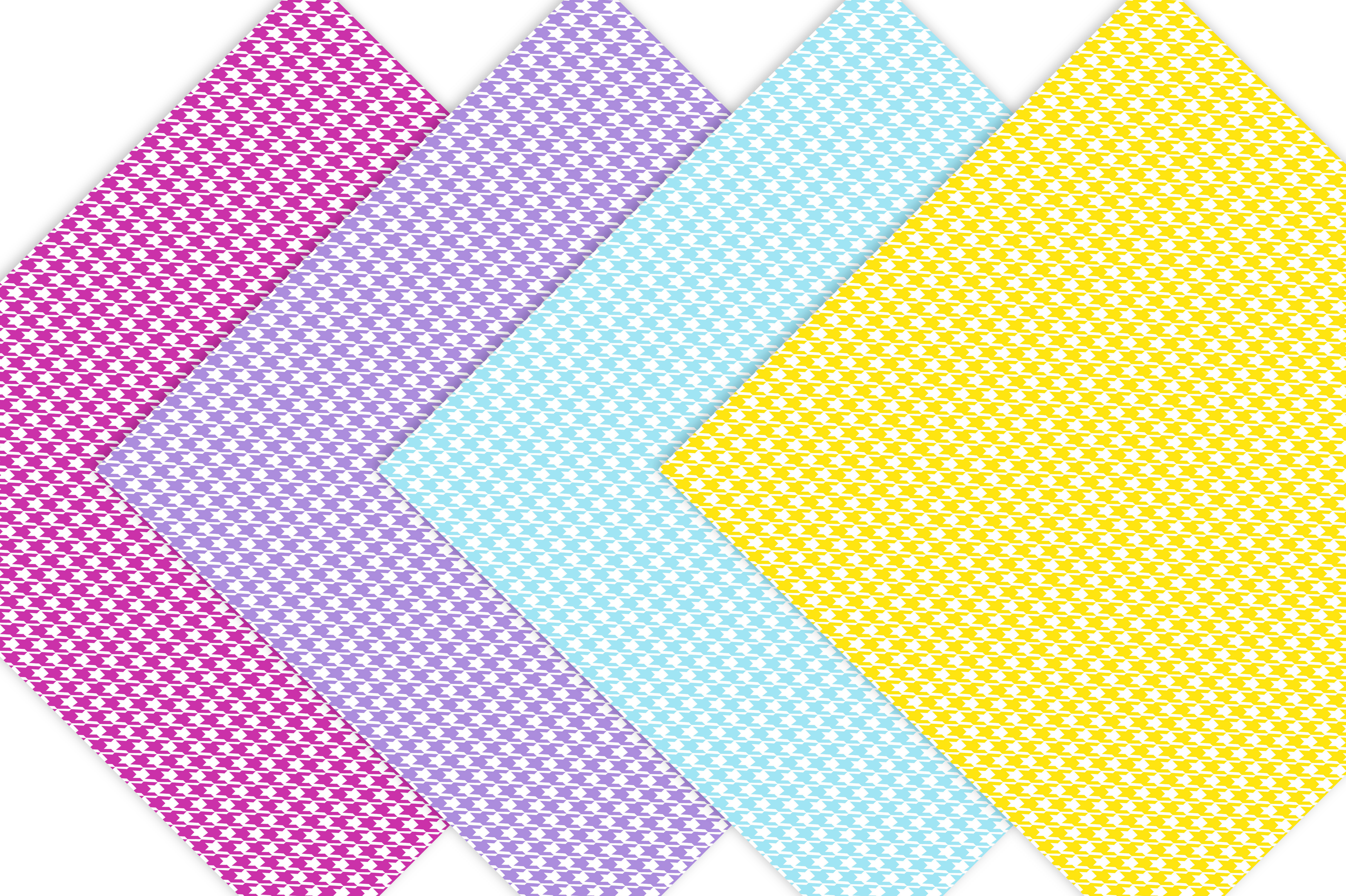 Houndstooth Digital Paper Pack - Rainbow example image 5