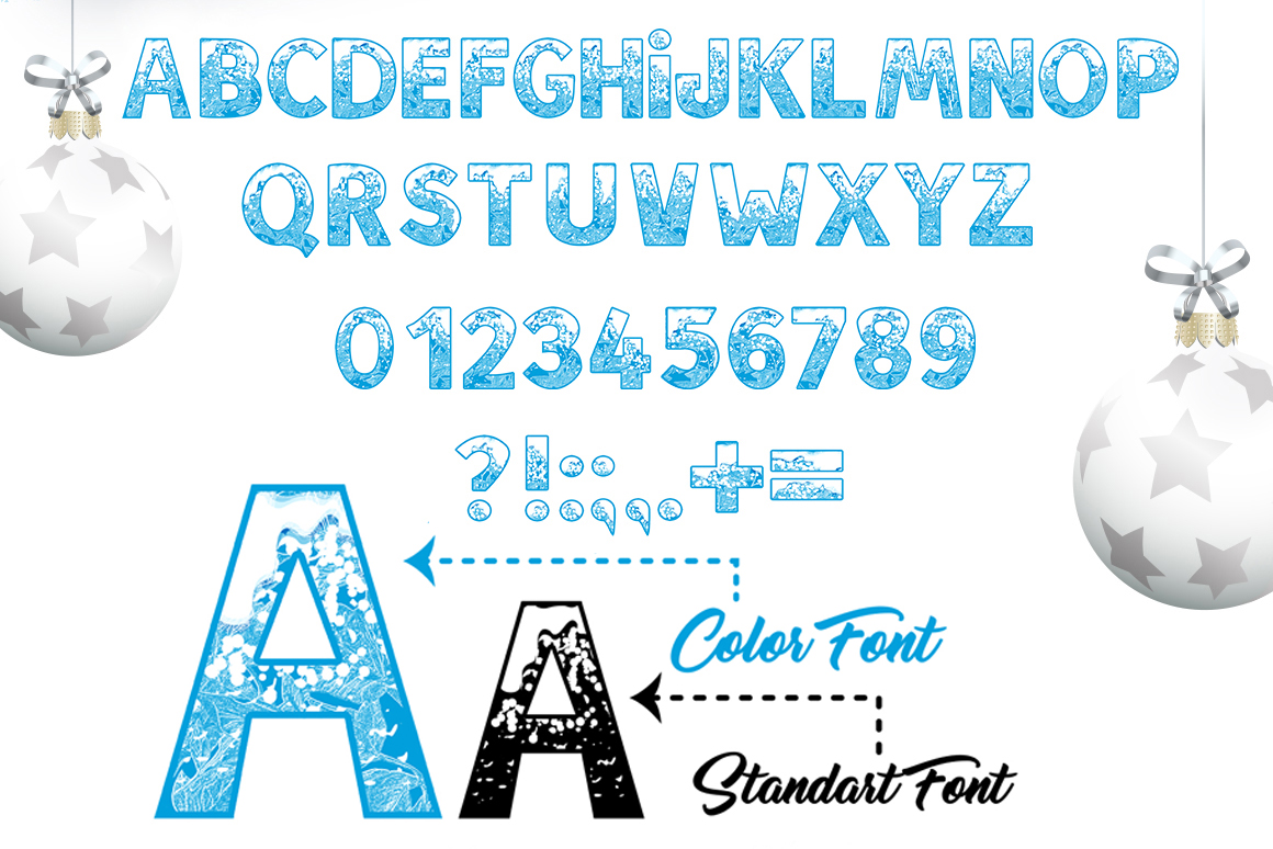 SNOW - Font Family for Christmas! example image 3