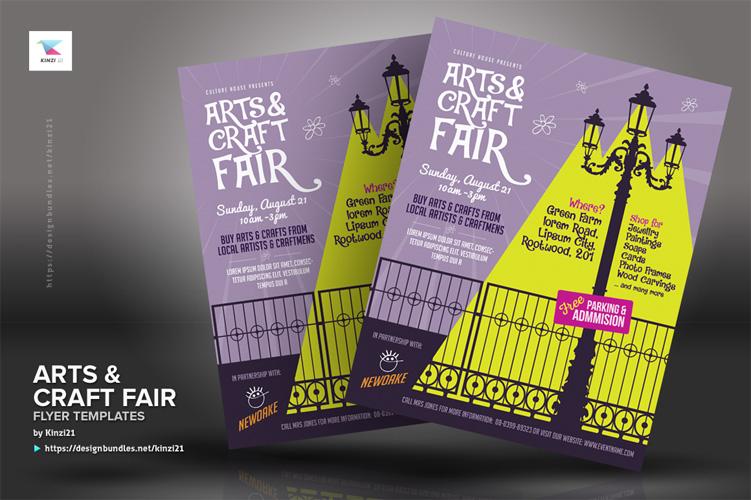 Arts & Craft Fair Flyer Templates example image 2
