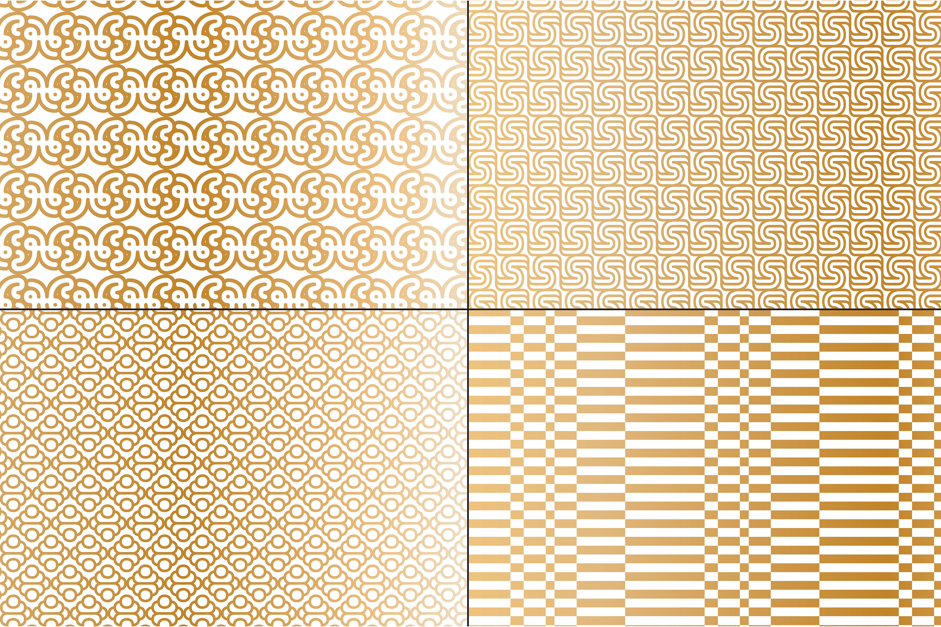 Copper & White Mod Geometrics example image 2