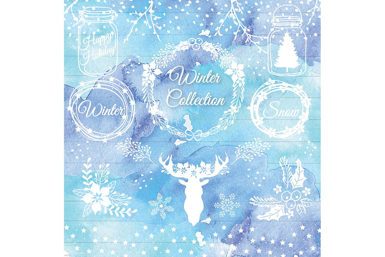 Vector rustic christmas 1 example image 2
