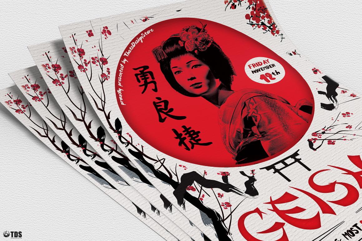 Geisha Night Flyer Template V4  example image 5