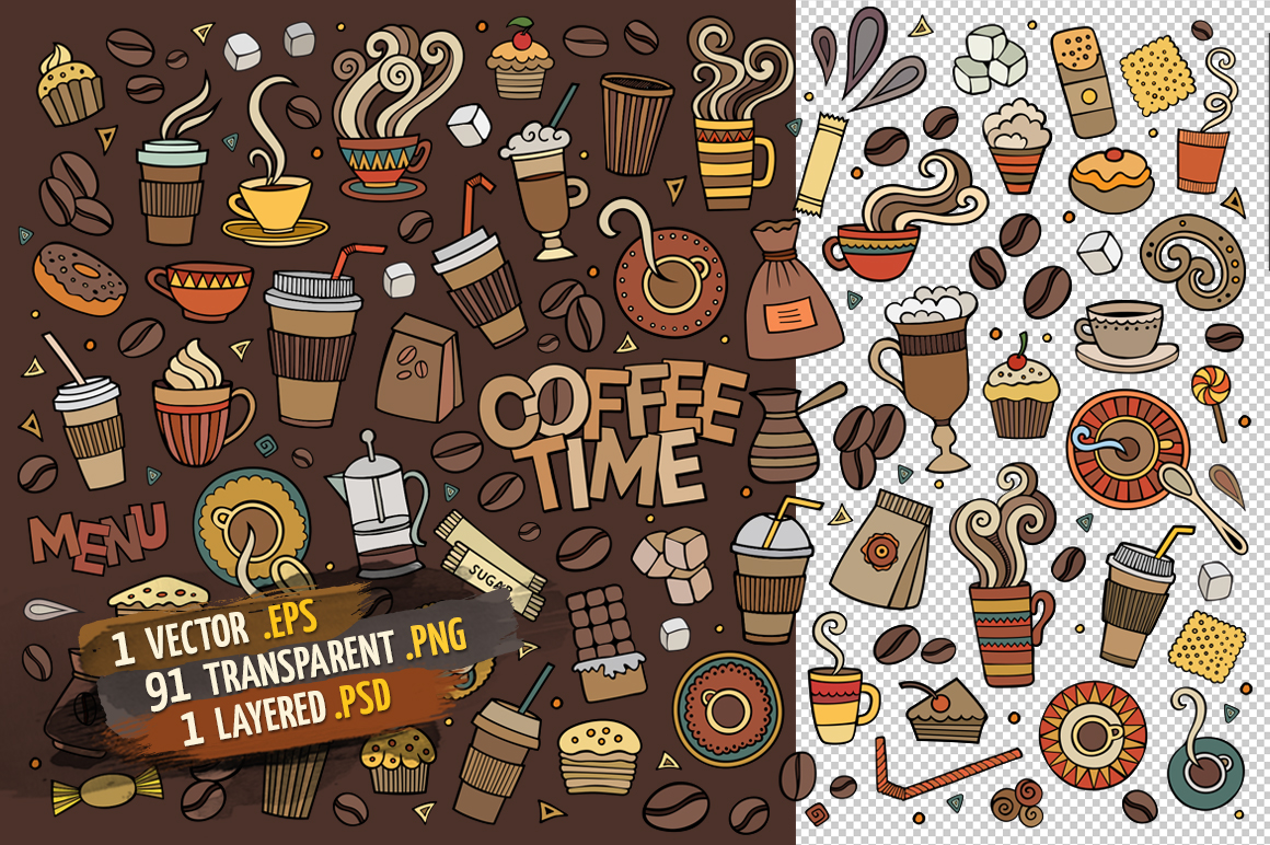 Coffee Objects & Elements Set example image 2
