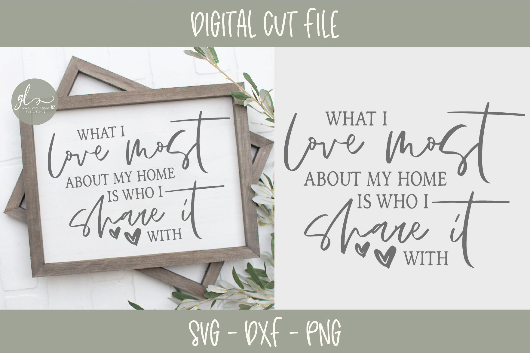 Home & Family Bundle - 10 Designs - SVG, DXF & PNG example image 8