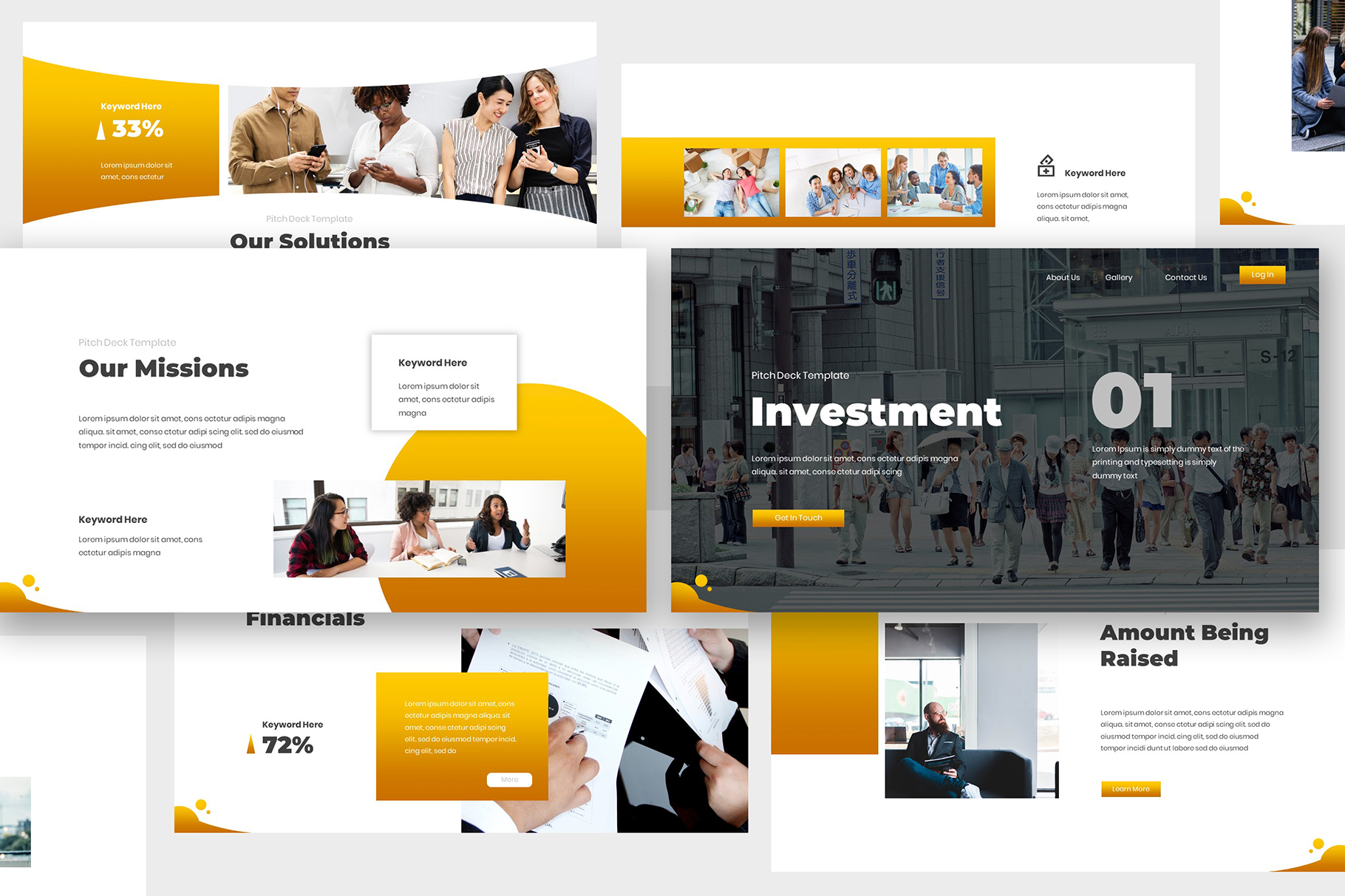 Investment Pitch Deck Google Slides example image 3