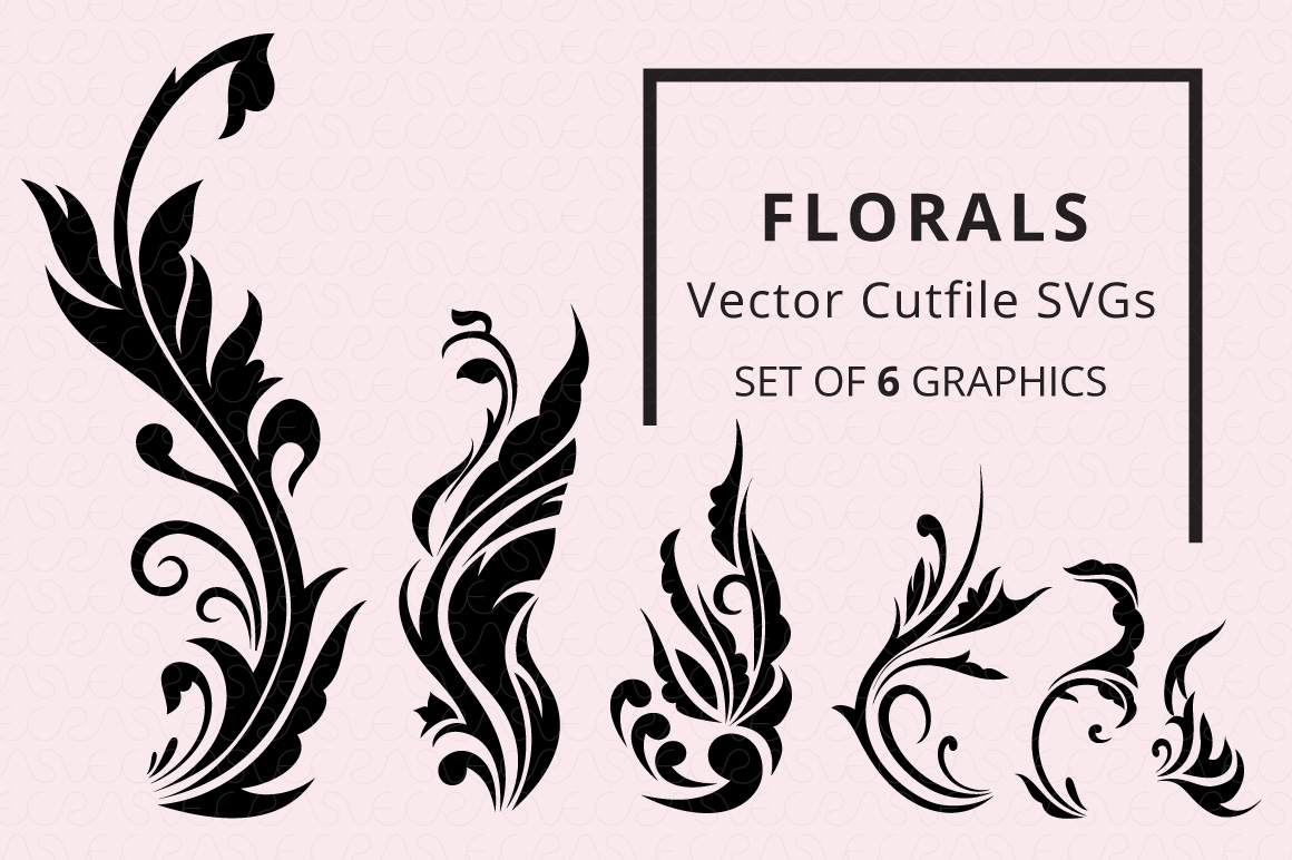 SVG Florals Cutfiles Bundle Pack of 270 vector graphic shape example image 5