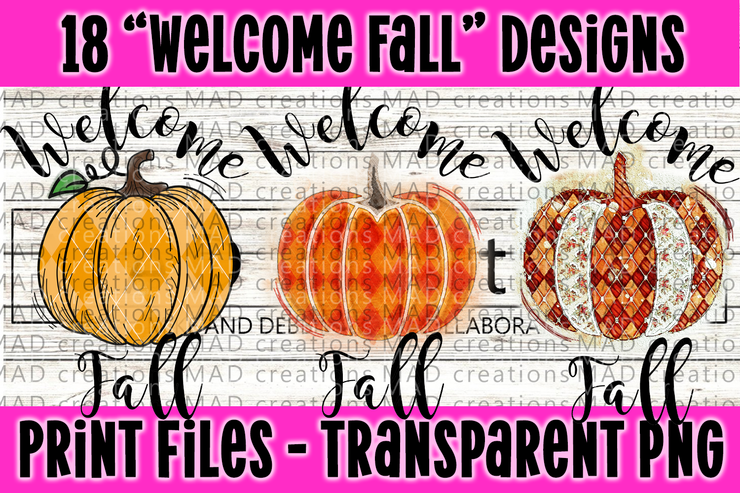 18 PNG Welcome Fall Bundle - Print File example image 2