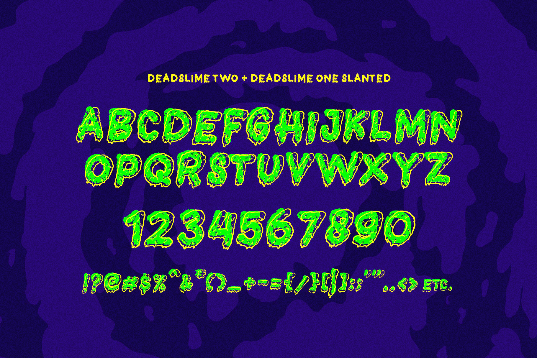 Dead Slime 6 Fonts | Extras 50 Illustrations example image 5