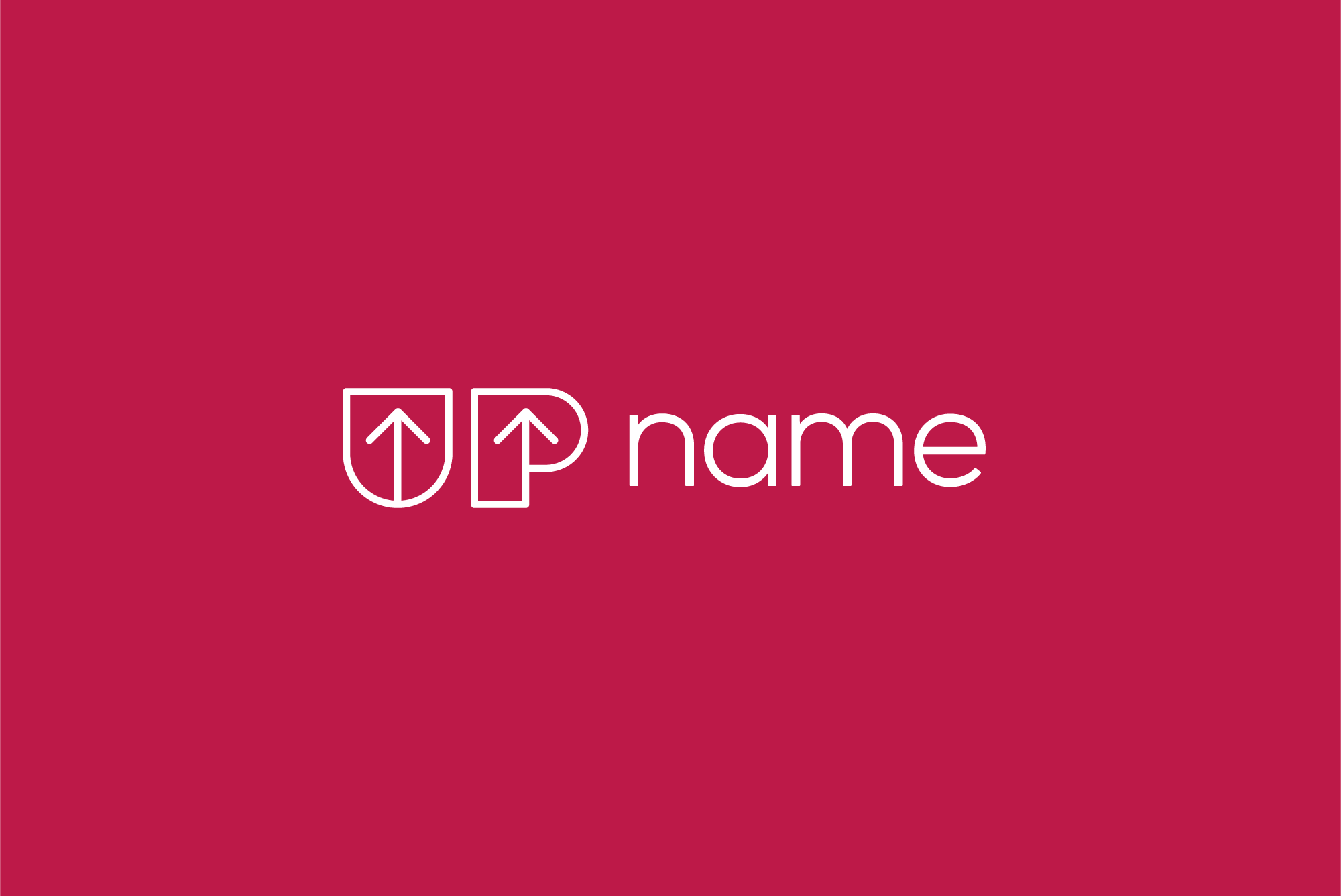 UP name logo example image 2