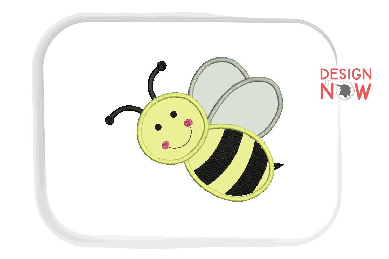 Bee Applique Design, Bee Embroidery, Handmade example image 2