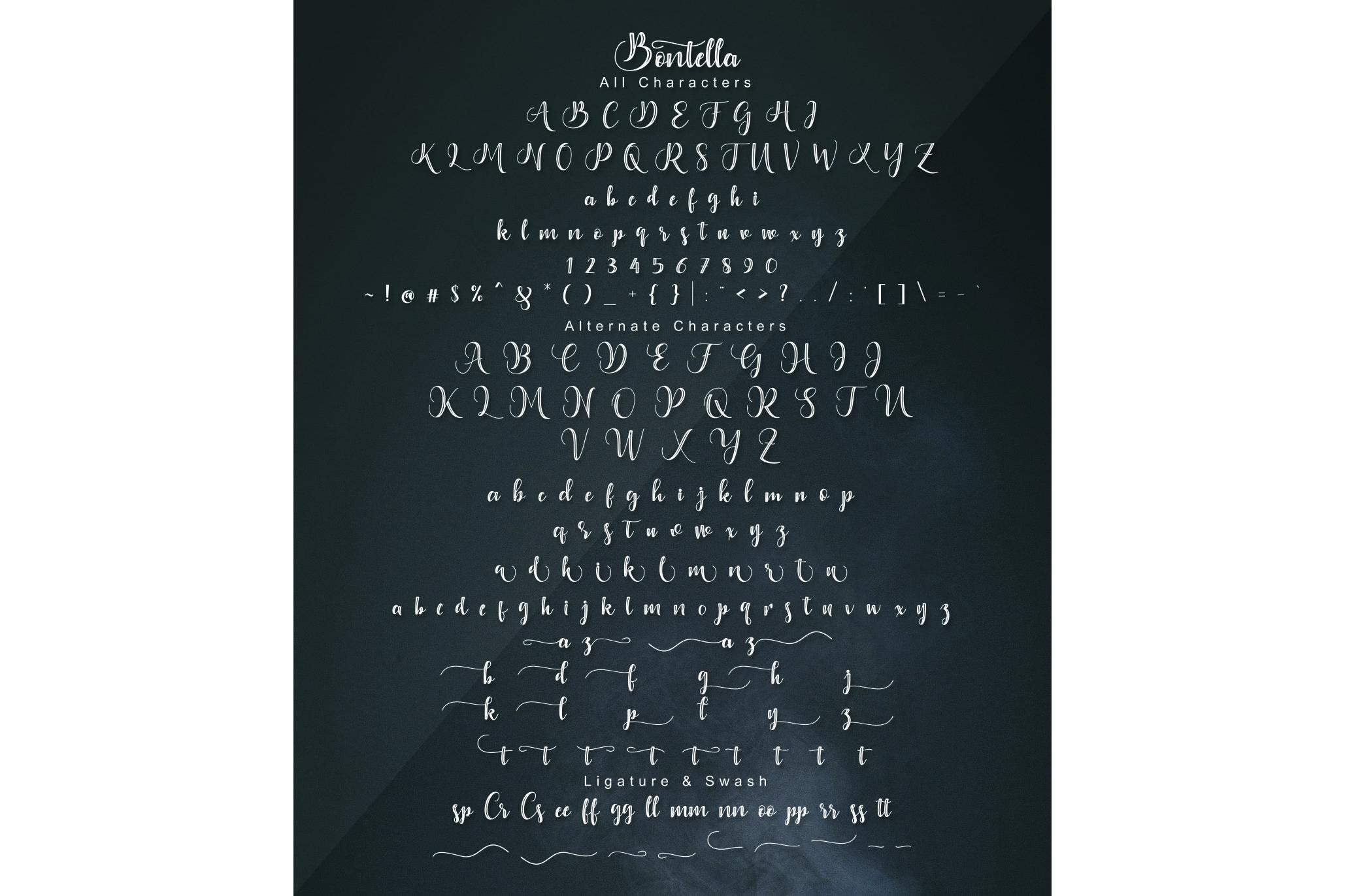 Bontella 2 Style Font example image 16