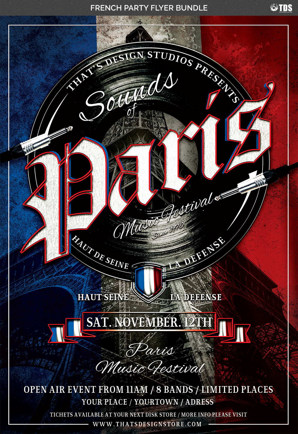French Party Flyer Bundle example image 5